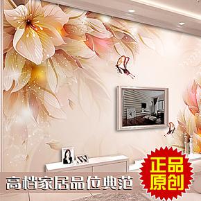 皮阿诺客厅卧室壁纸 电视墙 背景 电视背景墙纸大型壁画繁花似锦