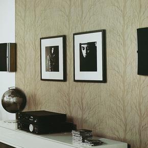 旗航壁纸 简约欧式墙纸 卧室客厅壁纸背景墙qdj-e植绒无纺布墙纸