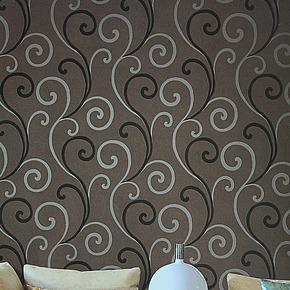 旗航壁纸 电视背景墙纸壁纸 卧室客厅现代简约深压纹PVC墙纸qdj-i