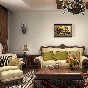 歌诗雅无纺布墙纸 客厅卧室美式简约风格 纯色素色壁纸139米灰色