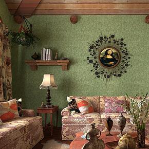 歌诗雅墙纸 客厅卧室满铺背景墙复古绿色美式乡村斑驳纹壁纸59