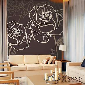 西诺大型壁画墙纸 客厅电视沙发卧室床头背景墙现代唯美壁纸 盛开