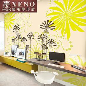 西诺大型壁画墙纸 客厅沙发卧室床头背景墙现代简约壁纸 玉树金蕊