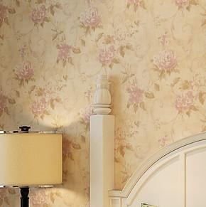 将旗OB-8171 无纺布美式乡村田园大花墙纸 卧室床头背景墙壁纸