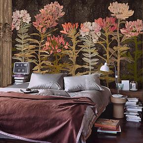 戈黎斯 醉蝶花 进口墙纸 无纺墙画 卧室玄关壁纸 定制大型壁画