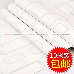 三合牌 加厚PVC自粘墙纸 卧室壁纸 墙布装饰纸 10米包邮SH6743