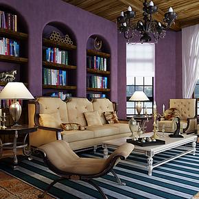 将旗无纺布壁纸 卧室婚房满铺高贵时尚浪漫 纯色素色墙纸 深紫色