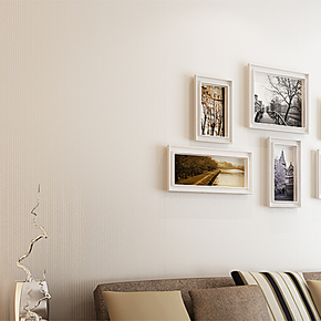 T品轩 满贴素色墙纸 无纺布纱线 客厅素色纯色壁纸 背景墙特价