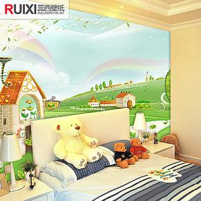 蕊西儿童卧室自粘背景墙壁纸 童话故事大型壁画 环保防水墙布壁布