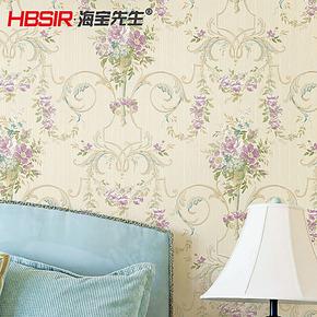 T海宝先生 欧式田园墙纸 无纺布客厅卧室墙纸田园风格壁纸
