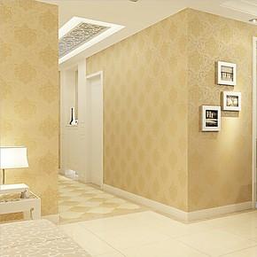慕勒家居壁纸 欧式大马士革墙纸 鎏金无纺布壁纸 卧室客厅背景