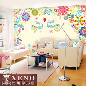 西诺大型壁画墙纸 客厅沙发电视卧室床头背景墙简约壁纸 相爱一生