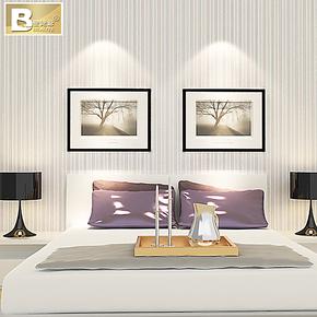 壁姥爷墙纸 现代简约墙纸壁纸 环保竖条纹 客厅书房卧室餐厅 壁纸
