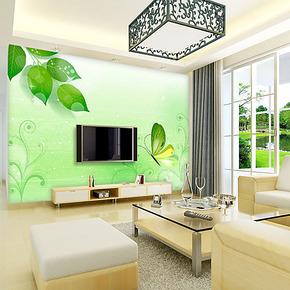 空间元素 客厅田园电视墙背景墙壁纸壁画 环保自粘墙纸 蝶舞春秋