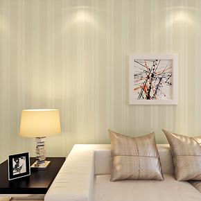 海宝先生 现代简约竖条纹 无纺布撒金壁纸 客厅卧室满铺墙纸HBJ-C