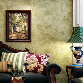 藤格先生 无纺布壁纸 欧式复古 做旧莨苕叶 卧室床头背景墙纸 ISA