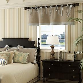 将旗纯纸墙纸 客厅卧室竖条纹 英伦时尚简约环保壁纸F87021