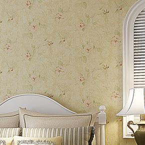 新巢 无纺布墙纸 美式复古田园 卧室客厅满铺壁纸8166 特价包邮