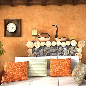 歌诗雅墙纸 客厅卧室沙发背景墙 时尚棕色PVC壁纸198东南亚风格