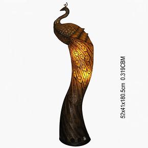 鼎典 欧式落地灯最尊贵奢华孔雀创意落地台灯客厅艺术收藏精品