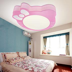新品【米度】简约led吸顶灯卧室灯创意儿童房灯饰卡通猫咪灯具