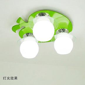 儿童吸顶灯儿童木制灯创意儿童灯具现代简约节能灯led灯饰书房艺