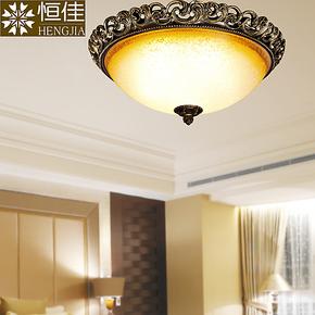 浪漫深咖啡色欧式复古灯具 地中海创意吸顶灯饰 美式饭厅灯卧室灯
