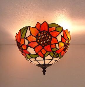 蒂凡尼欧式田园吸顶灯卧室吸顶灯温馨太阳花吸顶灯书房创意吸顶灯