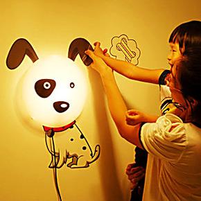 包邮现货 3D墙纸壁灯儿童房壁纸灯卧室床头灯 创意装饰墙贴壁纸灯