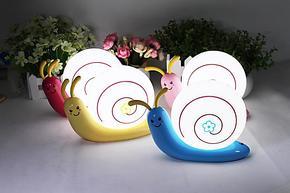正品可爱蜗牛创意小夜灯USB充电 LED环保节能灯小壁灯 宝宝卡通灯