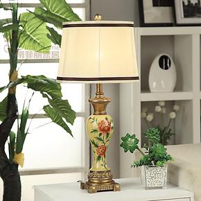 蒂菲丽  创意手绘欧式台灯 美式田园时尚婚庆书房客厅卧室床头灯