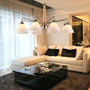 CH 现代简约3头餐厅灯 卧室吊灯创意简欧式客厅时尚木质吊灯灯饰
