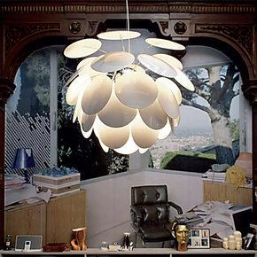 兰亭集势 创意松果二代荷花 现代简约书房卧室灯客厅灯具餐厅灯饰