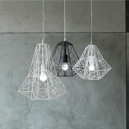 兰亭集势创意艺术钻石现代简约客厅灯具酒吧灯饰餐厅铁艺鸟笼吊灯