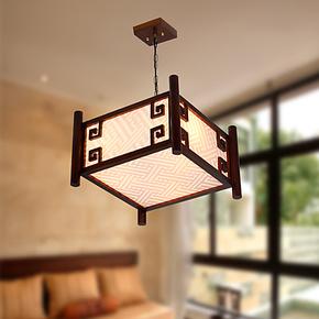 中式灯具古典吊灯仿古宫灯创意木艺灯餐厅灯餐吊灯书房灯卧室灯饰