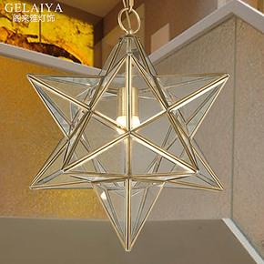欧式创意全铜灯具 现代卧室儿童房灯饰 艺术过道门厅灯单头吊灯