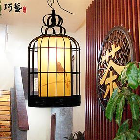 鸟笼灯 中式古典铁艺鸟笼灯具 餐厅客厅茶楼酒店创意工程灯饰热卖