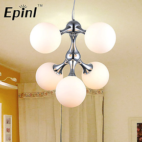 【Epinl】北欧简约现代卧室餐厅吧台美式创意灯具 DNA吊灯工程灯