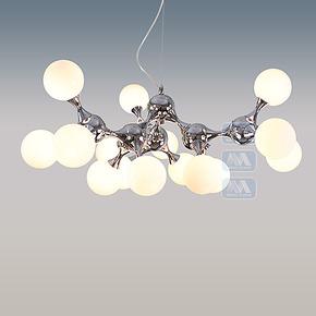 【铭钻】现代简约客厅餐厅饭厅卧室个性创意分子吊灯D8080-15S