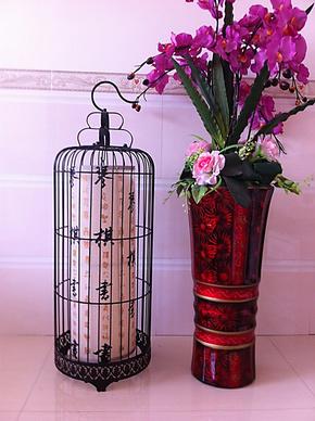 鸟笼灯 欧式古典铁艺鸟笼灯具 餐厅饭厅茶楼酒店创意灯饰 吊灯