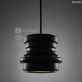 【设计师的灯】Loft 北欧美式乡村复古餐厅吧台创意灯 小黑圈吊灯