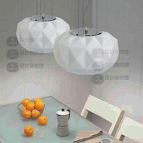 【设计师的灯】北欧美式创意餐厅吧台复古简约宜家 白色钻石吊灯