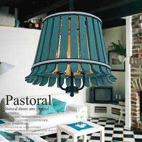 美式田园餐吊灯 餐厅灯客厅灯卧室饭厅创意灯具 简约实木吧台吊灯