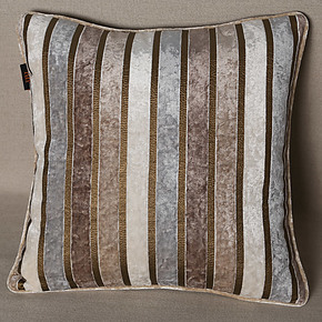 JBL金佰利家居 简约现代条纹绒布床头沙发抱枕大靠垫 七夕节定制
