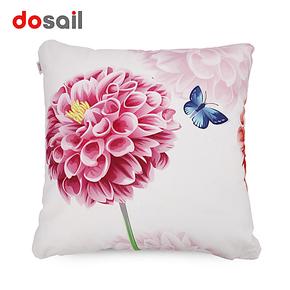 多彩汇 花蝴蝶 田园抱枕靠枕沙发靠垫 纯棉优质床头靠背抱枕含芯