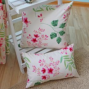 新品!【花语】田园纯棉印花沙发/床头 靠垫 靠枕 抱枕 包邮