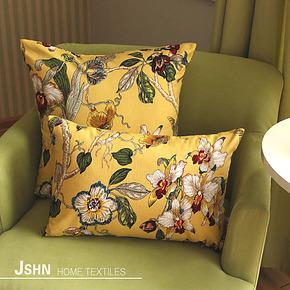 【奥黛丽】三色纯棉印花靠垫 沙发/床头靠垫 靠枕 抱枕套 靠垫套