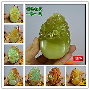 天然岫玉石手把件 玉石原石把件 俏色玉石摆件 一物一图多种选择