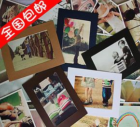 5寸6寸7寸 悬挂式照片墙 牛皮纸相框墙 创意卡纸相框DIY夹子麻绳