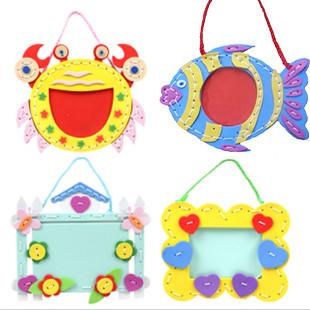 相框手工_eva手工制作挂绳相框 幼儿园材料包 立体贴画 儿童创意DIY玩具 ...